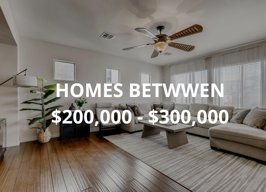 HOMES FOR SALE $200,000